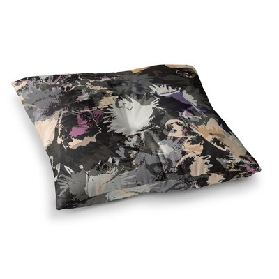 Punk Floral by Jessica Wilde Floor Pillow Size: 26 x 26