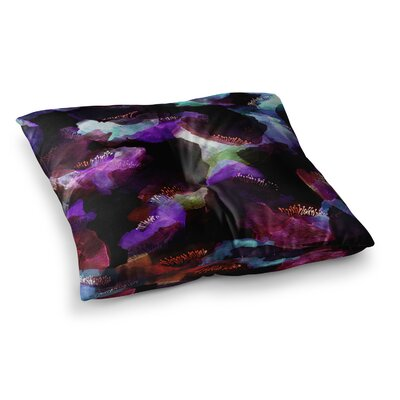 Watercolour Poppy by Jessica Wilde Floor Pillow Size: 26 x 26