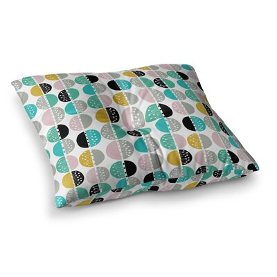 Carnival Stripe by Jessica Wilde Floor Pillow Size: 26 x 26