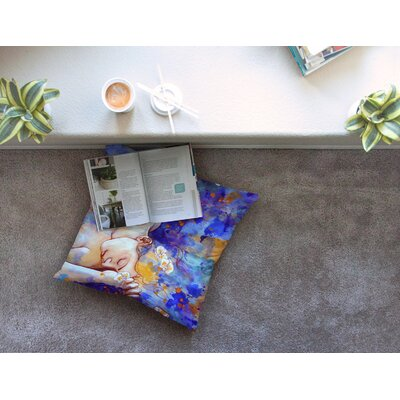 A Deeper Sleep by Kira Crees Floor Pillow Size: 26 x 26