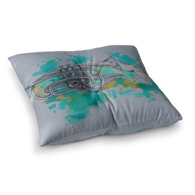 Hunting for Jazz by Kira Crees Floor Pillow Size: 23 x 23