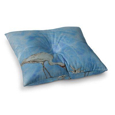 Crane by Kira Crees Floor Pillow Size: 26 x 26