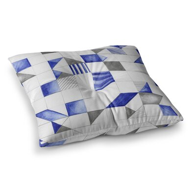 Winter Geometry by Kira Crees Floor Pillow Size: 26 x 26