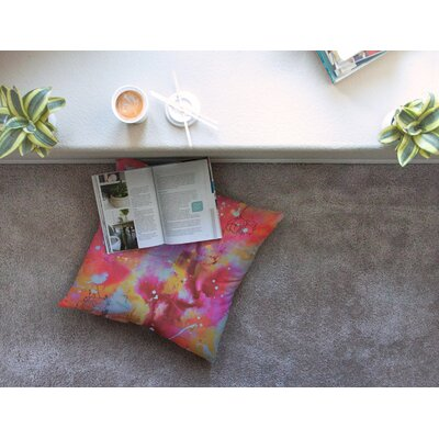 Falling Paradise by Kira Crees Floor Pillow Size: 26 x 26