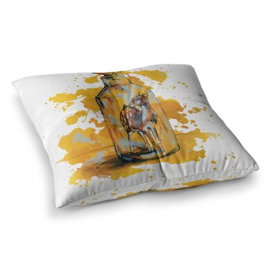 Vintage Bottled Deer by Kira Crees Floor Pillow Size: 26 x 26