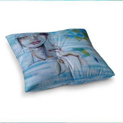 Alice People Painting by Kira Crees Floor Pillow Size: 26 x 26