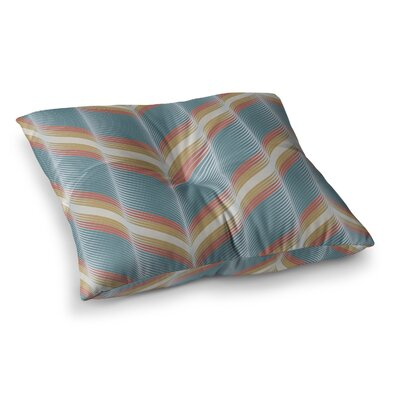 Wavy Chevron by Karina Edde Floor Pillow Size: 26 x 26