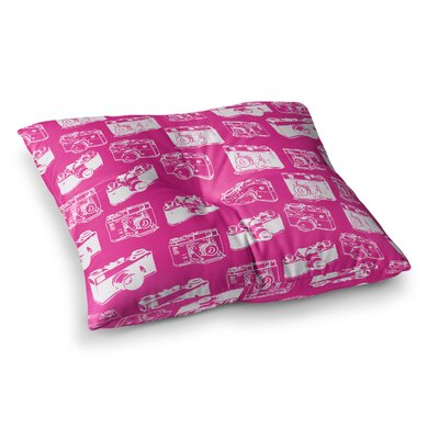 Camera Pattern Floor Pillow Size: 26 x 26
