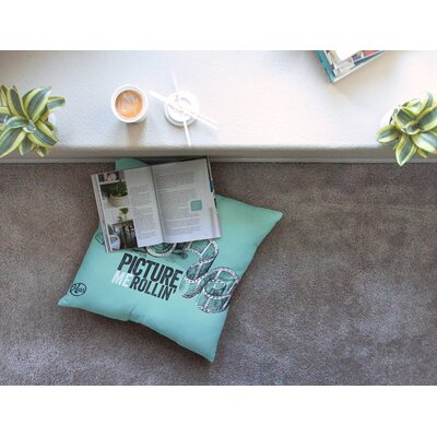 Picture Me Rollin Floor Pillow Size: 23 x 23