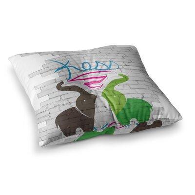 Elephants Floor Pillow Size: 26 x 26