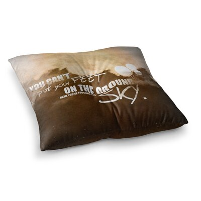 Touch the Sky Floor Pillow Size: 26 x 26
