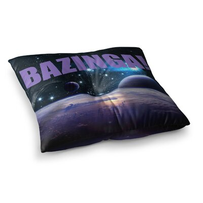 Bazinga Floor Pillow Size: 26 x 26, Color: Purple