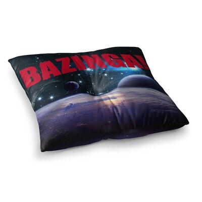 Bazinga Floor Pillow Size: 26 x 26, Color: Red
