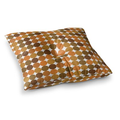 Noblefur Floor Pillow Size: 23 x 23, Color: Orange