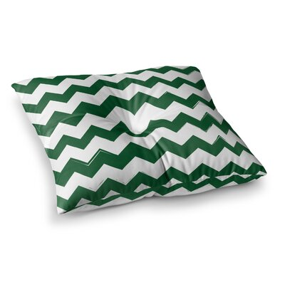 Candy Cane Chevron Floor Pillow Size: 26 x 26, Color: Green