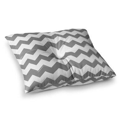 Candy Cane Chevron Floor Pillow Size: 23 x 23, Color: Gray