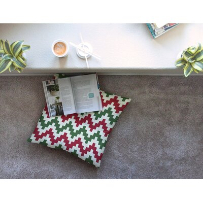 Christmas Gram Chevron Floor Pillow Size: 26 x 26