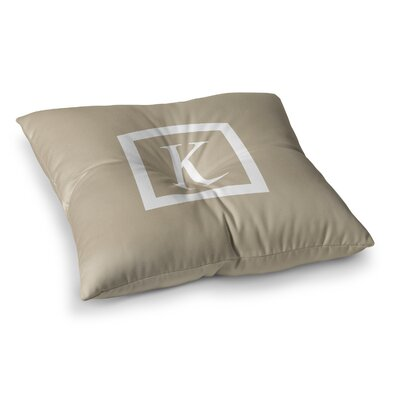Monogram Solid Floor Pillow Size: 23 x 23, Color: Tan