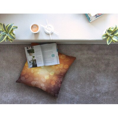 Sunrise Bokeh Floor Pillow Size: 23 x 23