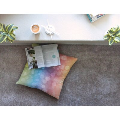Prism Rainbow Bokeh Floor Pillow Size: 23 x 23