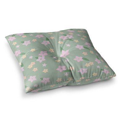 Spring Floral Floor Pillow Size: 23 x 23