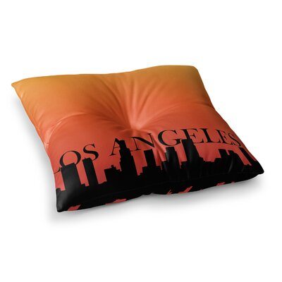 Los Angeles Floor Pillow Size: 26 x 26