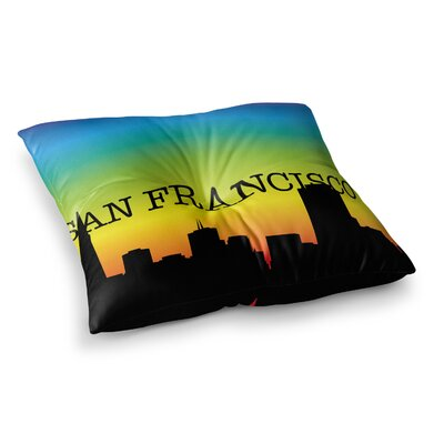 San Francisco Rainbow Floor Pillow Size: 23 x 23