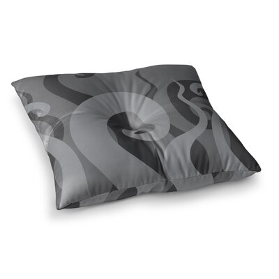 Poor Unfortunate Souls Floor Pillow Size: 23 x 23, Color: Gray