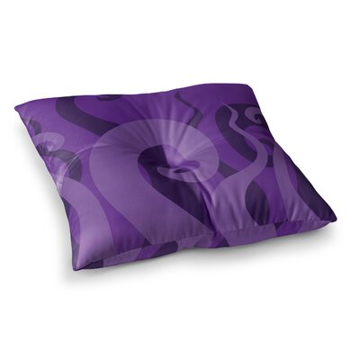Poor Unfortunate Souls Floor Pillow Size: 23 x 23, Color: Purple
