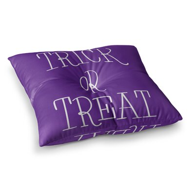 Trick or Treat Floor Pillow Size: 23 x 23, Color: Purple