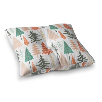 Happy Forest Floor Pillow Size: 23 x 23, Color: Orange/Green