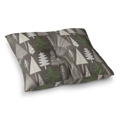 Happy Forest Floor Pillow Size: 23 x 23, Color: Green/Brown