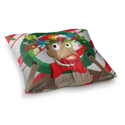 Reindeer Seasonal Floor Pillow Size: 23 x 23