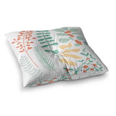 Deck the Hollies Floor Pillow Size: 23 x 23, Color: Orange/Teal
