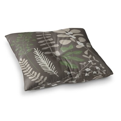 Deck the Hollies Floor Pillow Size: 23 x 23, Color: Green/Brown