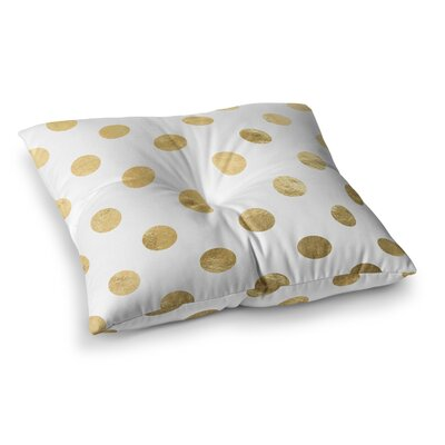 Scattered Floor Pillow Size: 23 x 23, Color: Gold/White