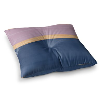 Spring Swatch Wood Floor Pillow Size: 23 x 23, Color: Blue/Purple