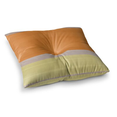 Spring Swatch Wood Floor Pillow Size: 23 x 23, Color: Orange/Yellow