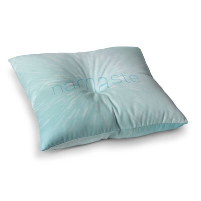 Namaste Floor Pillow Size: 23 x 23, Color: Teal/Blue/White