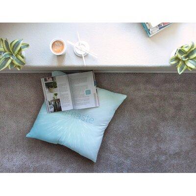 Namaste Floor Pillow Size: 23 x 23, Color: Blue