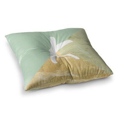 Monogram Foil Floor Pillow Size: 26 x 26, Color: Mint
