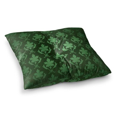 Emerald Damask Pattern Floor Pillow Size: 23 x 23