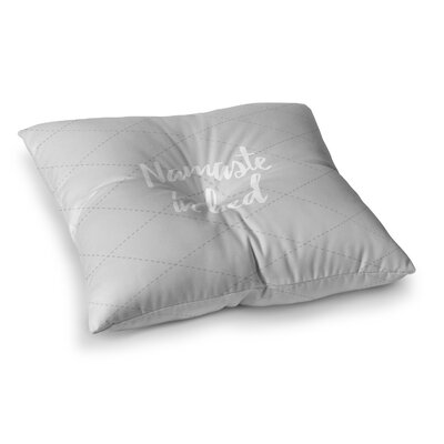 Namaste Floor Pillow Size: 26 x 26, Color: Gray/White