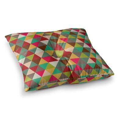 Autumn Triangle Spectrum Geometric Floor Pillow Size: 23 x 23