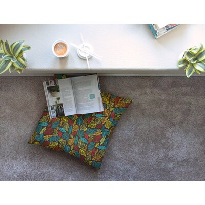Leaves All Around Floor Pillow Size: 26 x 26