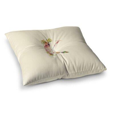 Floral Monogram Floor Pillow Size: 26 x 26