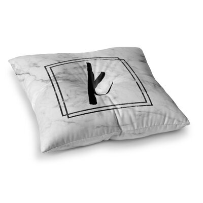 Marble Monogram Floor Pillow Size: 23 x 23