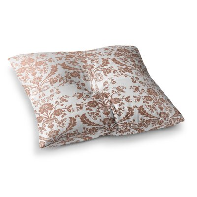 Baroque Abstract Floral Floor Pillow Size: 26 x 26, Color: Rose Gold
