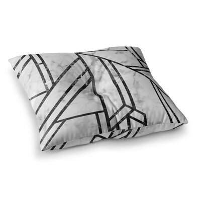 Marble Mosaic Geometric Modern Floor Pillow Size: 23 x 23