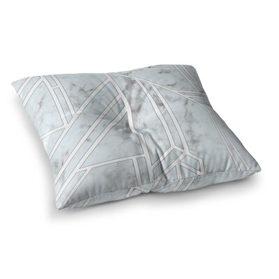 Marble Mosaic Geometric Digital Floor Pillow Size: 26 x 26